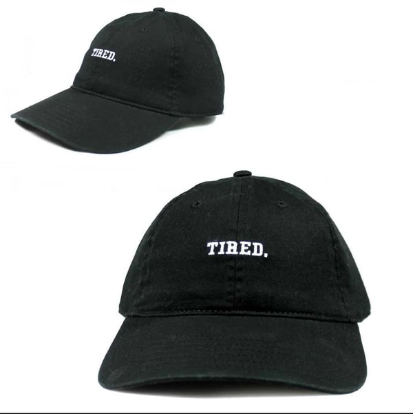 """Tired."" Adult Sized Unisex Dad-Hat - Adjustable Strap"