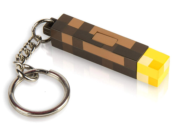Minecraft - 3D Light-Up Torch Keychain - Kryptonite Character Store