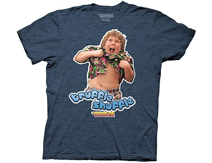 Goonies - Classic Movie Truffle Shuffle Adult Fitted T-Shirt - Kryptonite Character Store
