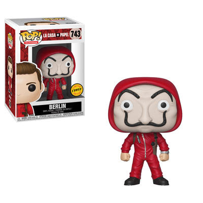 Money Heist - Berlin w/Dali Mask Chase Pop Television Vinyl Figure