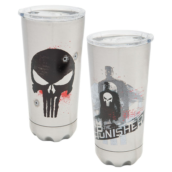 Marvel The Punisher 20oz. Stainless Steel Vacuum Tumbler - Kryptonite Character Store