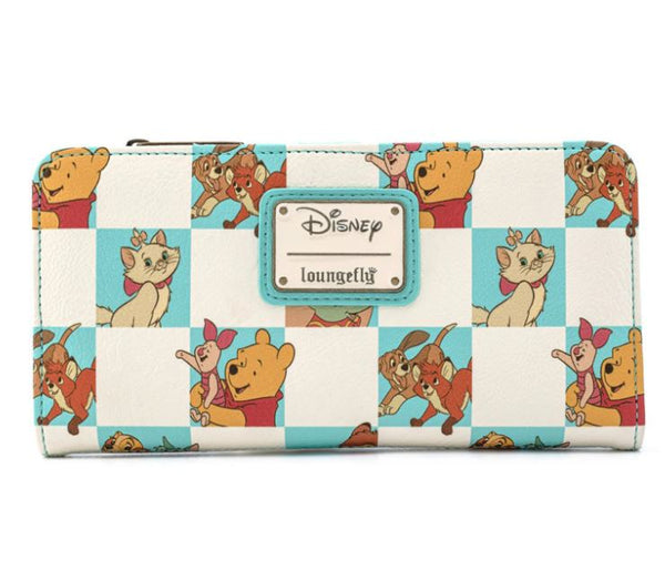 Disney Checkered Characters Mint Wallet - Kryptonite Character Store