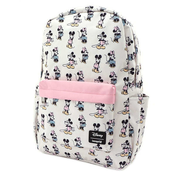 Pastel Minnie Mickey Backpack Nylon Loungefly