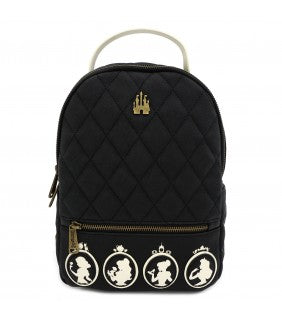 LOUNGEFLY X DISNEY PRINCESS QUILTED CAMEO MINI BACKPACK