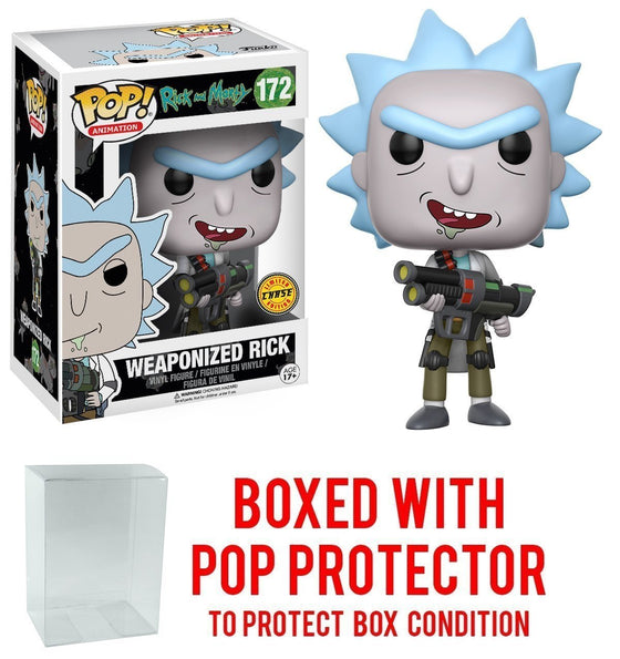 Rick and Morty - Weaponized Rick Chase Funko Pop with Pop Protector