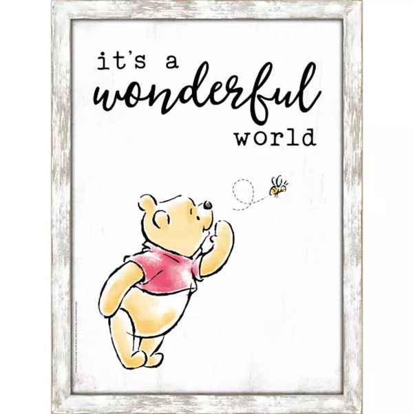 Winnie the Pooh ''It's a Wonderful World'' Framed Wall Decor - Kryptonite Character Store