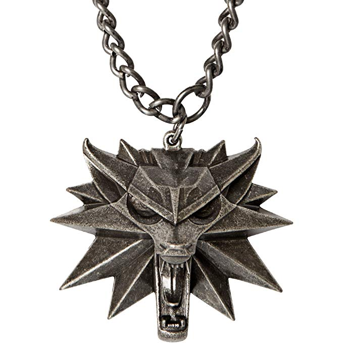 Necklace - Witcher - Wild Hunt Medallion with Chain - Kryptonite Character Store