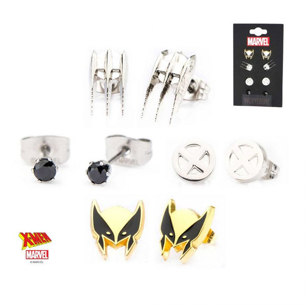 Marvel Wolverine Stud Earrings 4pc Pack.