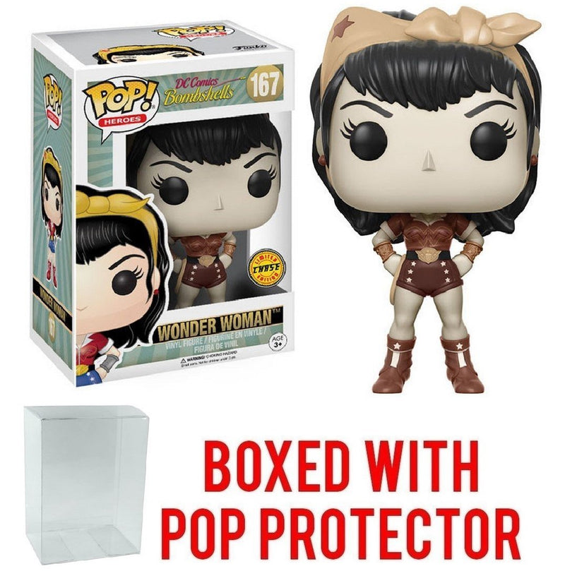 Funko Pop! Heroes: DC Bombshells - Wonder Woman Limited Edition CHASE Variant Vinyl Figure - Kryptonite Character Store