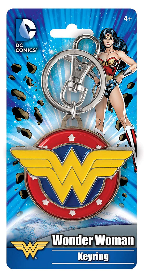 DC Comics Wonder Woman Colored Field Pewter Key Ring