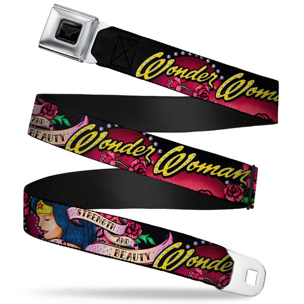 DC Comics Wonder Woman Strength and Beauty Seat Belt Buckle Belt - Kryptonite Character Store