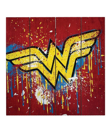 DC Comics - Wonder Woman Wooden Home Decor Sign - Kryptonite Character Store