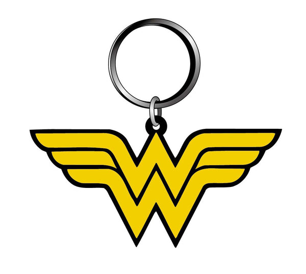 DC - Novelty Key Ring - Wonder Woman Logo, Multi Color - Kryptonite Character Store
