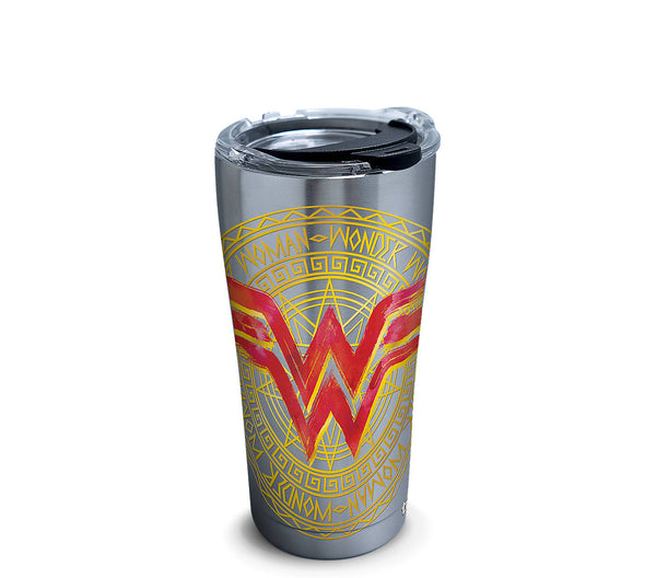 DC Comics - Wonder Woman Icon Stainless Steel Insulated Tumbler with Lid, 20 oz- Kryptonite Character Store