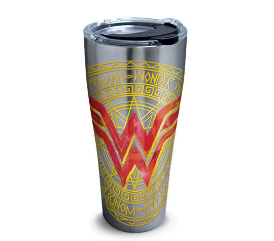 DC Comics - Wonder Woman Icon Stainless Steel Insulated Tumbler with Lid, 30 oz- Kryptonite Character Store