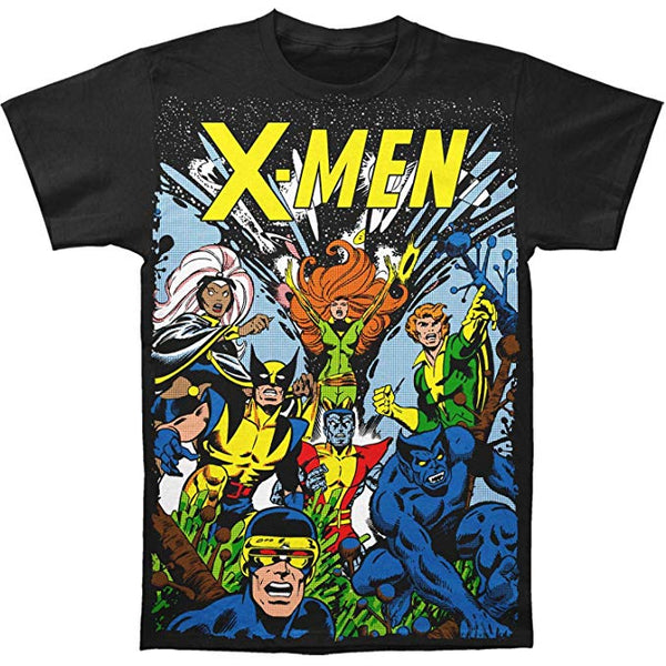 X-Men Marvel Comics The Gang Big Print Subway T-Shirt Tee - Kryptonite Character Store