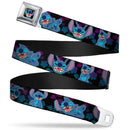 Stitch Face Sketch Close-up Full Color Seatbelt Buckle Seat Belt - Kryptonite Character Store