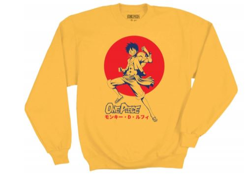 One Piece Luff D. Monkey Yellow  Long Sleeve