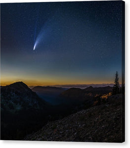 Comet Neowise from Sunrise Visitor Center - Canvas Print