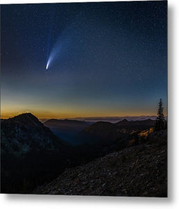 Comet Neowise from Sunrise Visitor Center - Metal Print