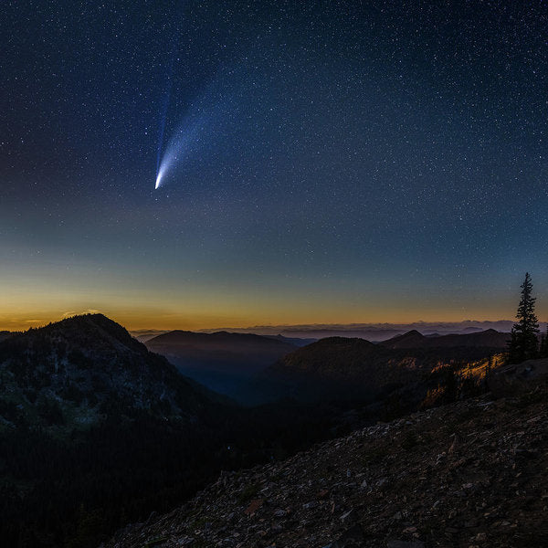 Comet Neowise from Sunrise Visitor Center - Art Print