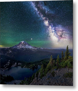 Lookout - Rainier From Tolmie Peak - Metal Print