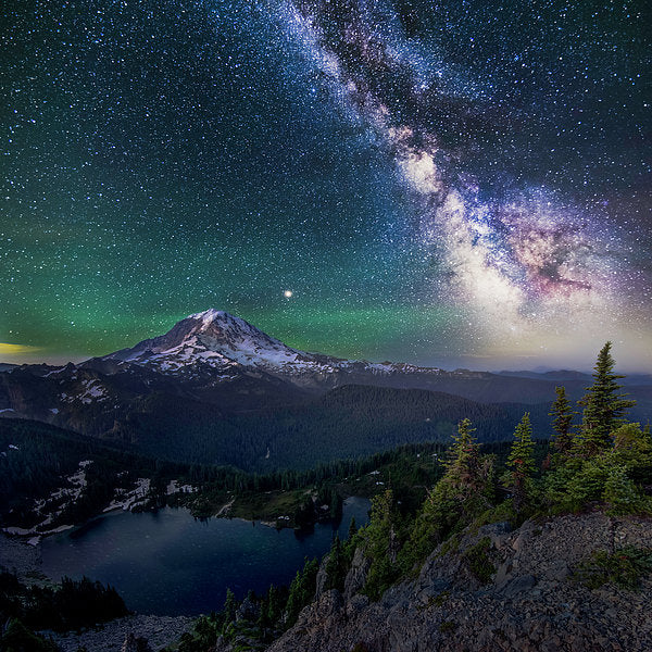 Lookout - Mt. Rainier From Tolmie Peak - Art Print