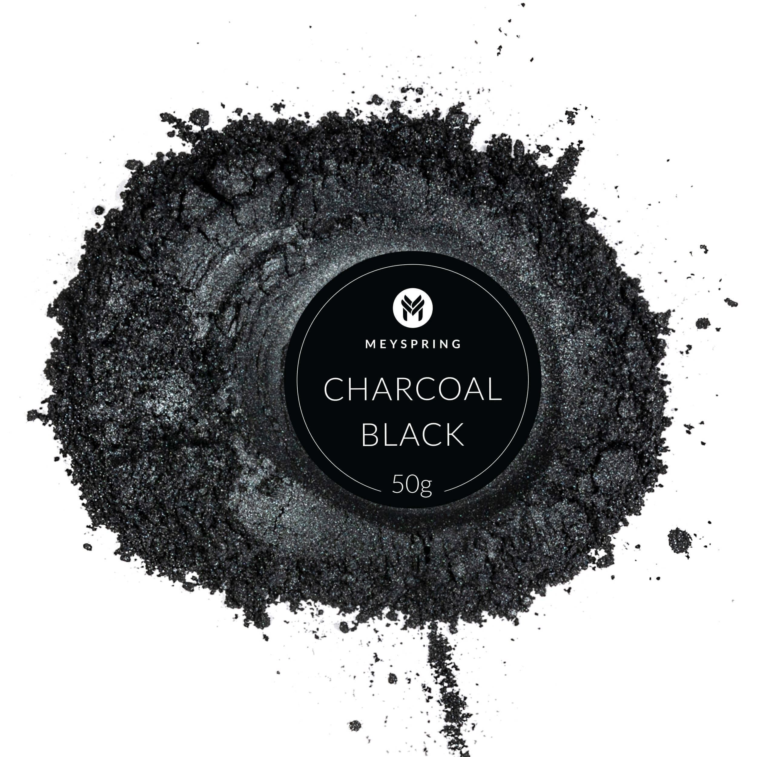 Meyspring charcoal black epoxy resin color pigment mica powder for resin art
