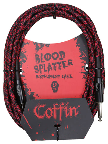 Bloodsplatter Instrument Cable 10ft. Straight