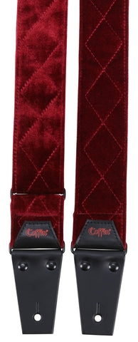 The Count / Red Velvet Guitar Strap