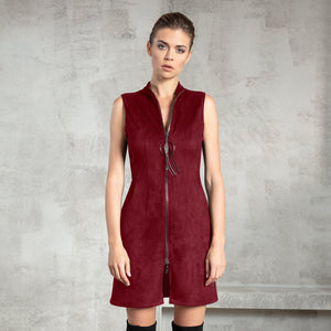 Claret Microsuede Dress