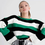 Colorblock Wide Sleeve Sweater