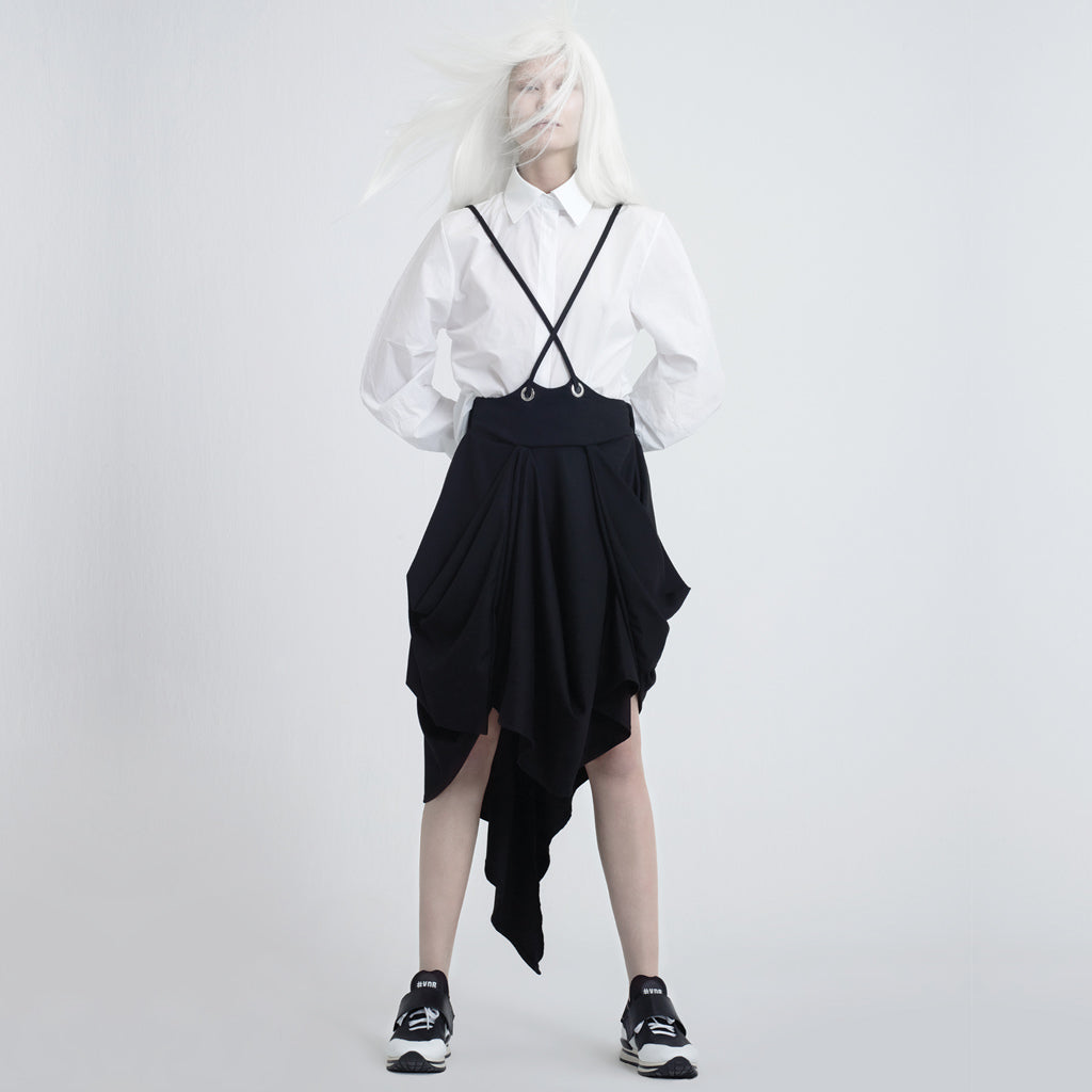 Strap Asymmetric Skirt