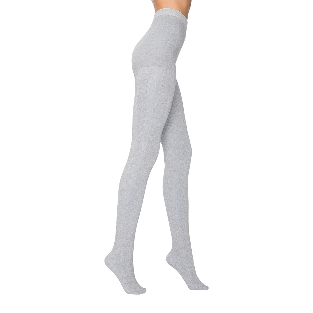 Karina Light Grey Cotton Tights