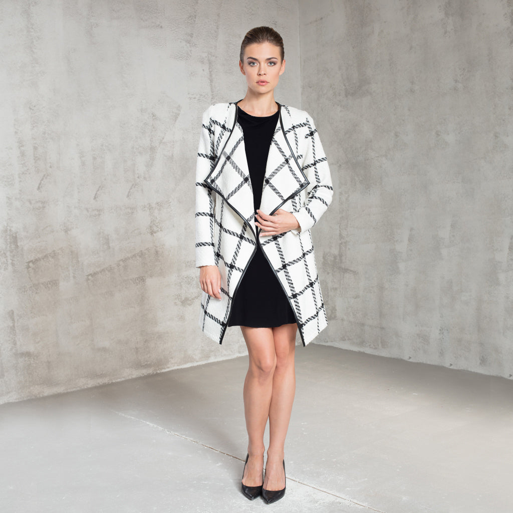 White Check Coat