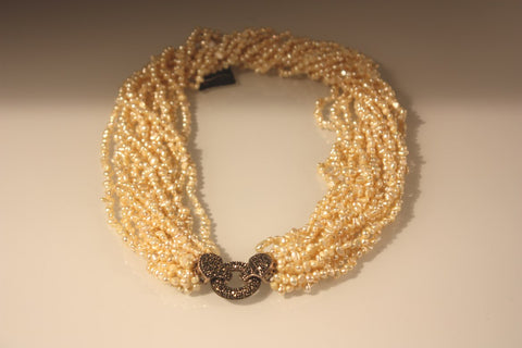 Pearl  & Marcassite Necklace