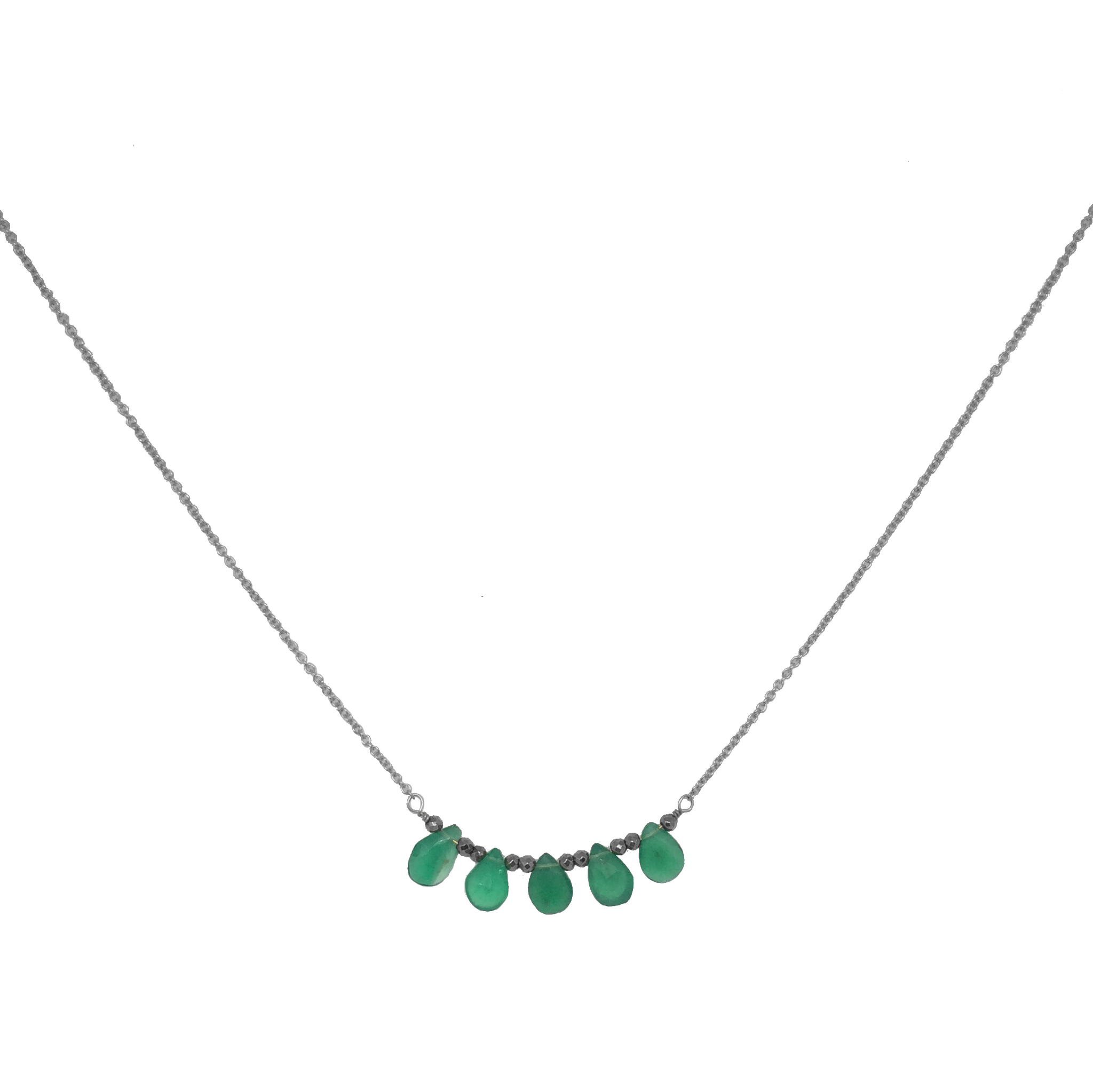 jewelry mend necklace stacks onyx products green