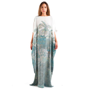Silk Watercolor Caftan