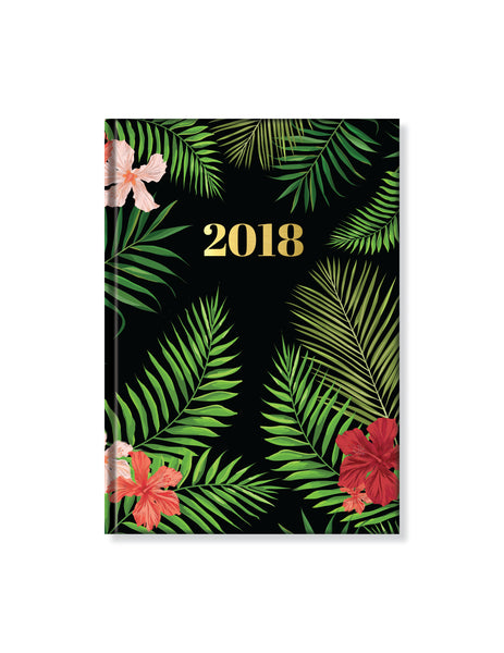 2018 Perfect Planner- Tropical Palms- 18 Month