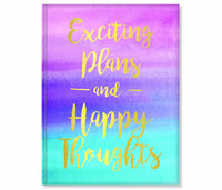 "2018 Weekly- ""Exciting Plans and Happy Thoughts"" Colorwash- 18 Month"