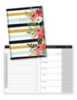 2018 Perfect Planner- Mint Stripe Floral- 18 Month