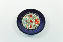 Amsterdam Tulip Museum Turkish Ceramic Tulip Serving Plate Navy Blue