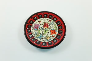 Amsterdam Tulip Museum Turkish Ceramic Tulip Serving Plate Red