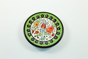 Amsterdam Tulip Museum Turkish Ceramic Tulip Serving Plate Green