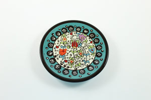 Amsterdam Tulip Museum Turkish Ceramic Tulip Serving Plate Turquoise