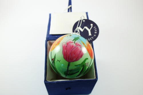 Amsterdam Tulip Museum Tulip Fields Hand-Painted Glass Tree Ornament