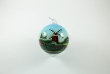 Amsterdam Tulip Museum The Windmills Hand-Painted Glass Tree Ornament