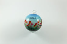 Amsterdam Tulip Museum 'Mooi Meisje' Pretty Girl Hand-Painted Glass Tree Ornament