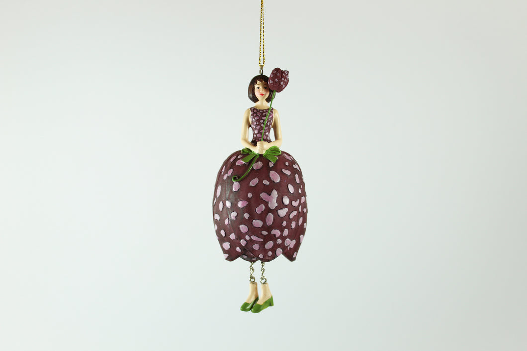 Amsterdam Tulip Museum Pink Spotted Tulip Fairy Tree Ornament