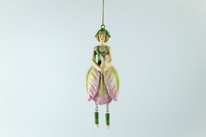 Amsterdam Tulip Museum Green Wave Tulip Fairy Tree Ornament